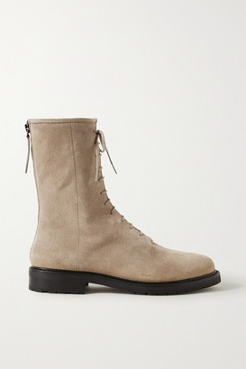 LEGRES Suede Ankle Boots - Taupe