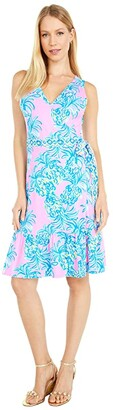 Lilly Pulitzer Sleeveless Misha Wrap Dress (Pelican Pink Beat The Heat Engineered) Women's Dress