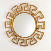The Well Appointed House Greek Key Round Mirror - Hammered Gold
