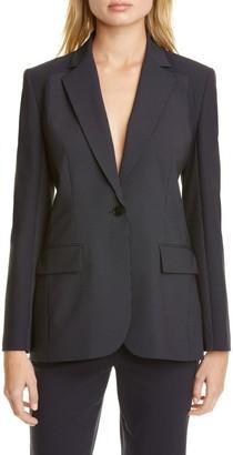 Judith And Charles Alvorada Pinstripe Stretch Wool Suit Jacket