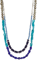 Kenneth Cole New York Two-Row Multi Bead Long Necklace