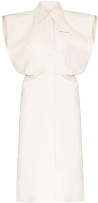 Bottega Veneta Square-Shoulder Shirtdress