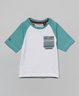 Micros Tropical Green Clash Raglan Tee - Toddler