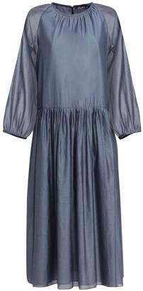 S Max Mara Adatti Voile Cotton & Silk Midi Dress