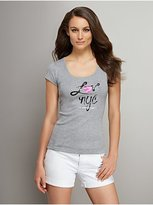 New York & Co. Love NY&C Collection - Pink Metallic Heart Logo