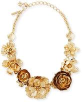 Oscar de la Renta Metallic Floral Collar Necklace