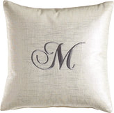 """Eastern Accents Pillow with Embroidered Initial, 17""""Sq."""
