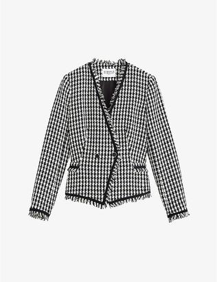 Claudie Pierlot Tweed cotton-blend single-breasted blazer