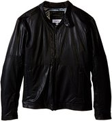 Calvin Klein Men's Faux Leather Perforated Jacket