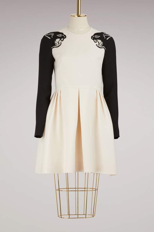 Valentino Panther Embroidered Dress
