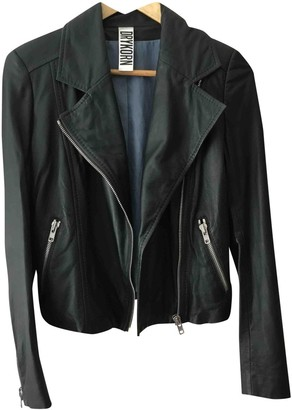 Drykorn Green Leather Jacket for Women