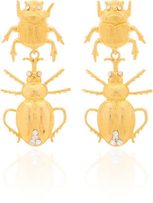 Bounkit Gold-Tone And Crystal Earrings