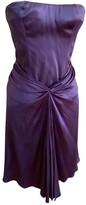 Blumarine Purple Silk Dress for Women