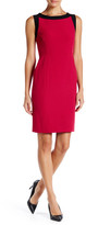 Kasper Colorblock Crepe Sheath Dress (Petite)