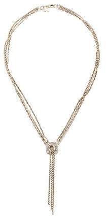 David Yurman Diamond Box Chain Lavalier Necklace