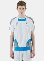 Adidas By Kolor Men's Climachill Hybrid Short Sleeved T-shirt In White And Grey
