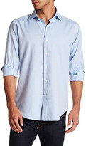 Peter Millar Regular Fit Silky Herringbone Sport Shirt