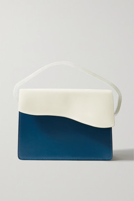 NATURAE SACRA Aiges Two-tone Leather And Resin Tote - Petrol