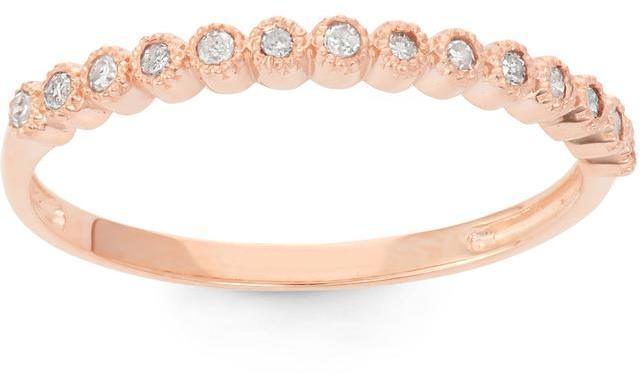 Tiara 1/7 CT TW Diamond 10K Rose Gold Vintage Inspired Wedding Band