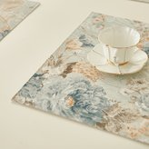 HARTING European pastoral style Cloth pad,Four layer thickening placemats,machine washable Table mat,No deformation,Yarn dyed jacquard,Polyester cotton blended