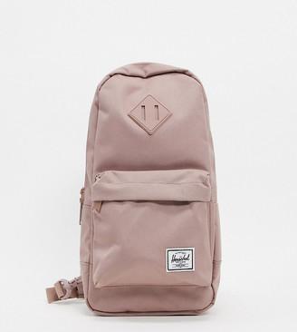 Herschel Heritage single strap backpack in ash rose