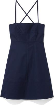 Proenza Schouler Cotton Strapless Short Dress in Navy