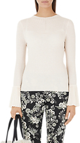 Marc Cain Knitted Fan Sleeve Top, Panna