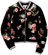 Ten Sixty Sherman Floral Print Stripe Bomber (Big Girls)