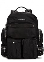 Dsquared2 Black Nylon Twill Backpack