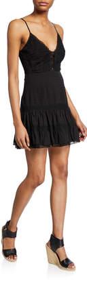 Astr Pauline Sleeveless Lace Short Dress