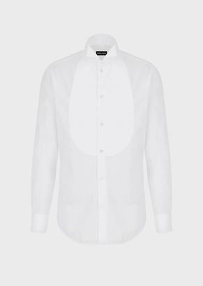 Giorgio Armani Tuxedo Shirt With Pique Plastron