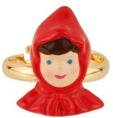 Les Nereides Into The Woods Little Red Riding Hood's Face Adjustable Ring.