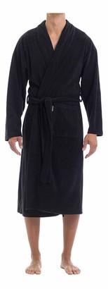 Joe Boxer Men's Microfleece Solid Robe Sleepwear