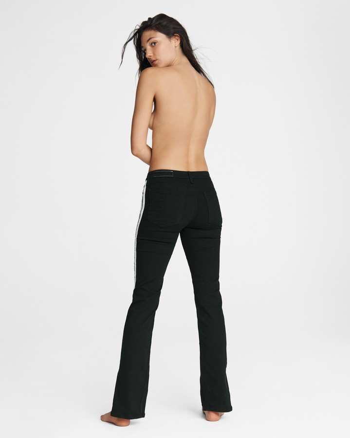 Thumbnail for your product : Rag & Bone Cate mid-rise flare - clean black