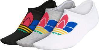 adidas Trefoil Assorted 3-Pack No-Show Socks