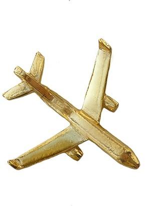 Make Heads Turn Golden Plane Pin