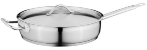 """Berghoff Hotel 11"""" Stainless Steel Covered Deep Skillet"""