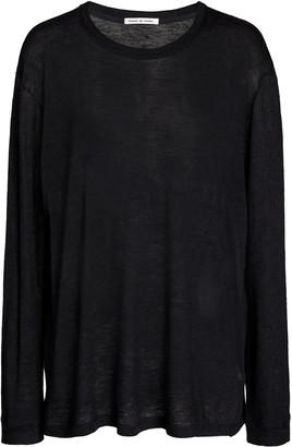 FRANCES DE LOURDES Marlon Oversized Cashmere-Silk T-Shirt