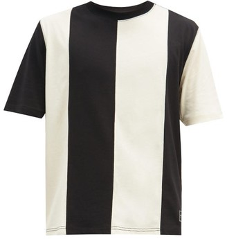 Ami Striped Cotton-jersey T-shirt - Black Beige