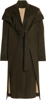 Boyarovskaya Convertible Belted Wool-Blend Coat