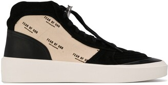 Fear Of God Logo Print High-Top Sneakers