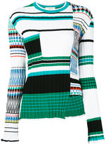 Ports 1961 asymmetric striped jumper - women - Cotton/Polyester/Viscose - XS