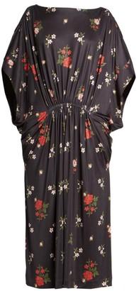 Simone Rocha Dolman-Sleeve Floral Caftan Dress