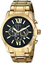 GUESS GUESS? Men's U0193G1 Gold-Tone Chrongraph Watch with Date Function