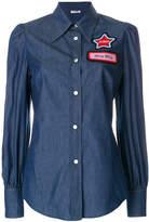 Miu Miu Name badge denim shirt
