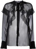 Givenchy sheer ruffle detail blouse