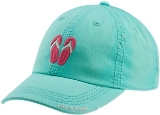 Life is Good Sun-Washed Flip Flop Chill Cap