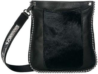 Leather Rock Padma Crossbody (Black/Hair Black) Cross Body Handbags