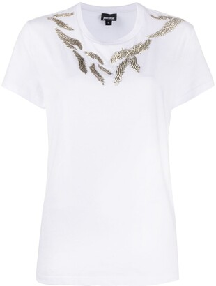 Just Cavalli metal embellished T-shirt