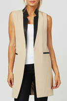 Luii Leather Trimmed Vest